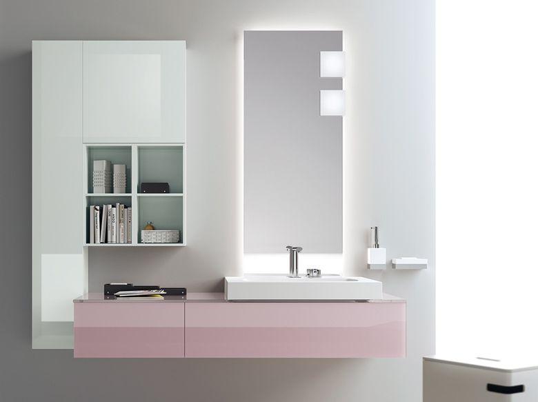 Нијанси на розева боја во купатило